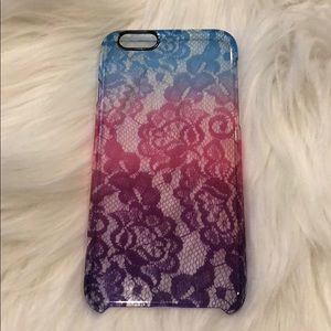 Accessories - Clear iPhone 6 case with lace print